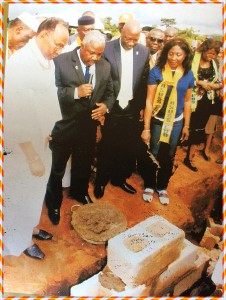 DADDY CONDUCTING THE FOUNDATION LAYING CEREMONY @ ASUSS HOUSE IN EDON STATE